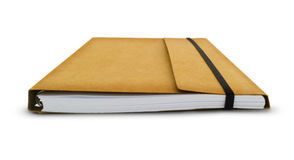Bruin Notitieboekje Stock Foto's