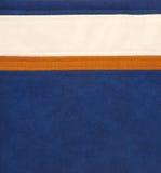 Bruin/oranje, wit en blauw leer Stock Foto's