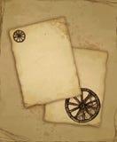 Bruin oud document met schets Royalty-vrije Stock Afbeelding
