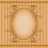 Bruin ovaal frame vector illustratie