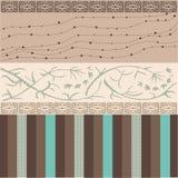 Bruin patroon met verschillende vormen Stock Afbeelding