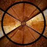 Bruin Radiaal spiraalvormig abstract deel 1 van het sterpatroon Stock Foto