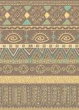 Bruin stammen etnisch Afrikaans patroonontwerp Stock Illustratie