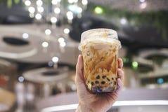 Bruin Sugar Bubble Drinks royalty-vrije stock afbeelding