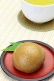 Bruin suiker gestoomd broodje Stock Fotografie