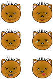 Bruin Teddy Bear emoticons Vector Illustratie