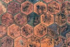 Bruin tegelspatroon Royalty-vrije Stock Afbeeldingen