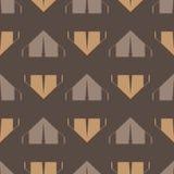 Bruin tent naadloos patroon royalty-vrije stock foto's
