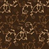 Bruin uitstekend bloempatroon Royalty-vrije Stock Afbeeldingen