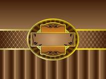 Bruin Uitstekend Etiket stock illustratie