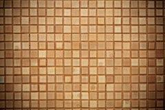 Bruin vierkant tegelspatroon Stock Fotografie