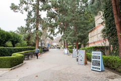 Bruin Walk on UCLA campus. Los Angeles, CA: May 7, 2017: Bruin Walk on the UCLA campus. UCLA is a public university in the Los Angeles area Stock Photography