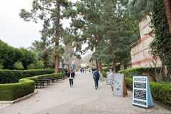 Bruin Walk on UCLA campus. Los Angeles, CA: May 7, 2017: Bruin Walk on the UCLA campus. UCLA is a public university in the Los Angeles area Stock Images