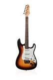 Bruin zes-stringed elektrische gitaar stock foto