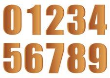 Bruine aantallen. Stock Fotografie