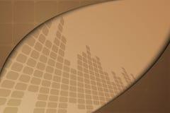 Bruine abstracte banner Royalty-vrije Stock Afbeelding