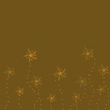 Bruine achtergrond met bloemen vector illustratie