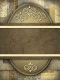 Bruine achtergrond met exemplaarruimte voor tekst Royalty-vrije Stock Foto's
