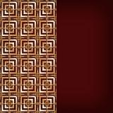Bruine achtergrond met gouden patroon royalty-vrije illustratie