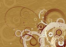 Bruine achtergrond, vector Royalty-vrije Stock Foto's