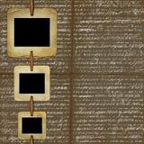 Bruine achtergrond voor ontwerp met grungedia's Royalty-vrije Stock Foto's