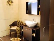 Bruine badkamers Royalty-vrije Stock Afbeeldingen