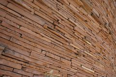 Bruine baksteen Stock Afbeeldingen