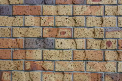 Bruine Bakstenen muur stock foto