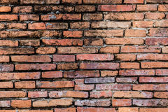 Bruine bakstenen muur Stock Fotografie