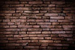 Bruine bakstenen muur Royalty-vrije Stock Afbeeldingen