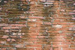 Bruine bakstenen muur Stock Afbeeldingen