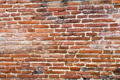 Bruine bakstenen muur Royalty-vrije Stock Foto