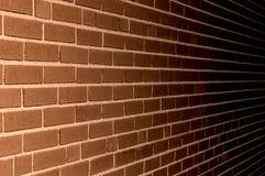 Bruine Bakstenen muur Achtergrondtextuurillustratie Stock Foto