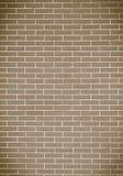 Bruine bakstenen muur als achtergrond of textuur Stock Afbeelding
