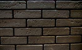 Bruine bakstenen muur voor achtergrond royalty-vrije stock fotografie