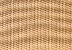 Bruine bamboe het weven patroontextuur en achtergrond Royalty-vrije Stock Afbeelding