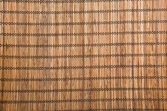 bruine bamboemat royalty-vrije stock foto's