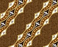 Bruine Batik Mooie bruine achtergrond Stock Afbeelding
