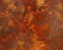 Bruine Bladeren als achtergrond Royalty-vrije Stock Foto's