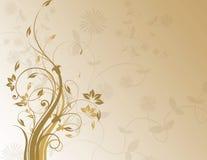 Bruine bloemenachtergrond Stock Afbeelding