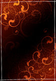 Bruine BloemenAchtergrond Stock Foto
