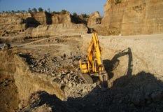 Bruine Canionmijnbouw royalty-vrije stock foto