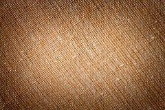 Bruine canvastextuur Royalty-vrije Stock Afbeelding