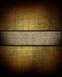 Bruine canvastextuur met donkere streep, achtergrond Royalty-vrije Stock Foto's