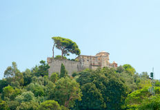 Bruine Castello (16de eeuw), Portofino, Ligurië, Italië Royalty-vrije Stock Afbeeldingen