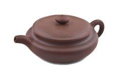 Bruine ceramische theepot Royalty-vrije Stock Foto's