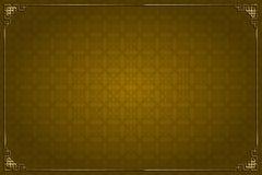 Bruine Chinese achtergrond en gouden decoratie stock illustratie