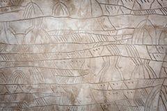 Bruine concrete muur Royalty-vrije Stock Afbeeldingen