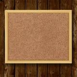 Bruine cork raad in een kader op houten achtergrond Royalty-vrije Stock Fotografie