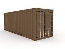 Bruine crago overzeese container Stock Afbeelding
